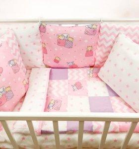 Комплект в кроватку для маленькой принцессы