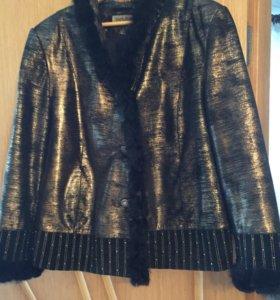 Оригинальная кожаная куртка