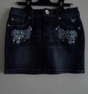 Юбка джинсовая для девочки Justice навая с биркой