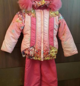 Зимняя куртка и полукомбинезон 98 р.