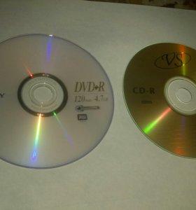 Чистые диски сд двд