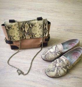 Сумка+обувь Massimo Dutti
