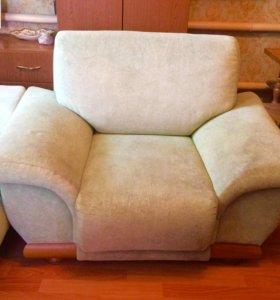 2 кресло и диван кровать