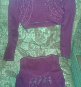 Платье бордовое с болеру