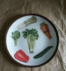 """Тарелка """"овощи"""""""