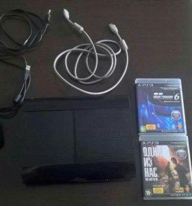 PlayStation 3 super slim 12Gb + 2 игры