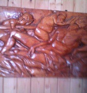 Резная картина,,Дионис и Адоная''