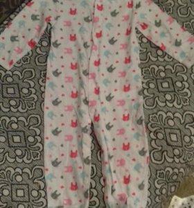 Пижама - боди размер 80