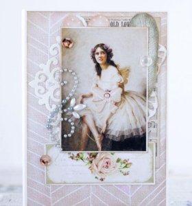 """Обложка на паспорт """"Романтичная балерина"""""""