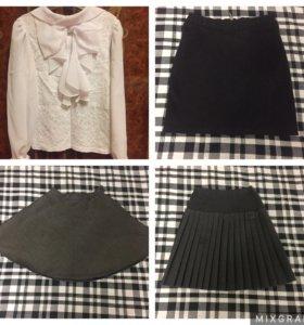 Школьная одежда- блузка, юбки