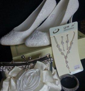 Аксессуары( сумочка+ колье,браслет,серьги)