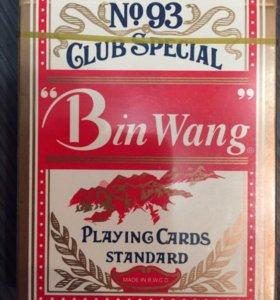 Карты покерные Bin Wang, Китай.