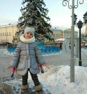 Зимнее пальто р. 110-120