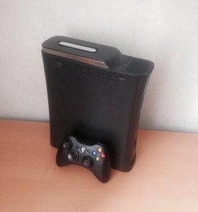 Xbox 360 fat 120 gb, геймпад, игры