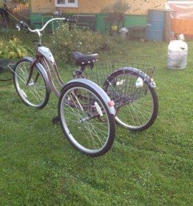 Велосипед взрослый трехколёсный х