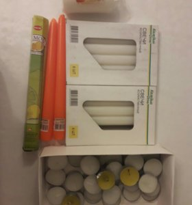 Свечки ароматизированные пакетом
