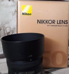 Объектив Nikkor 50 mm f/1.8 G