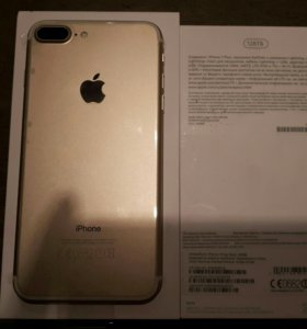 iPhone 7+ 128gb gold РОСТЕСТ