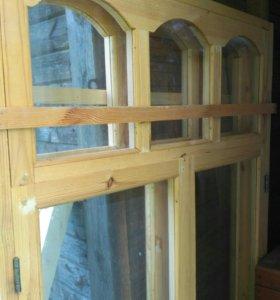 Окна деревянные новые застекленные