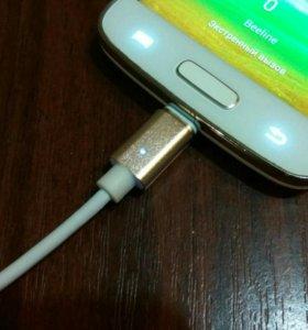 Магнитный зарядный кабель microUsb