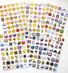 Наклейки стикеры emoji