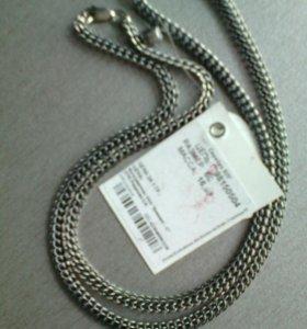 Новая цепь серебро черненое Питон