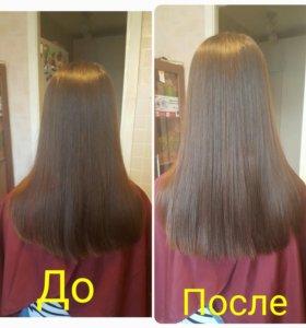 Экранирование волос, полировка