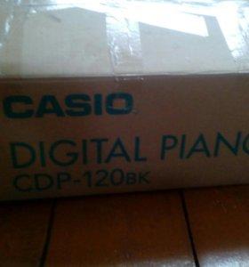 синтезатор фортепиано casio CDP-120bk