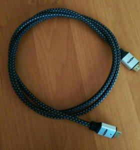 Кабель DEXP Premium HDMI - HDMI. 2 м.