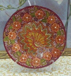 Тарелка декоративная ручная роспись
