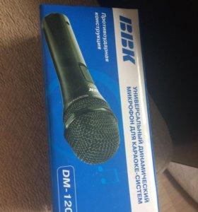 Новый, неиспользованный микрофон