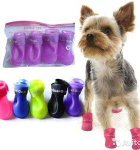 Резиновые сапожки,для собак малых пород.