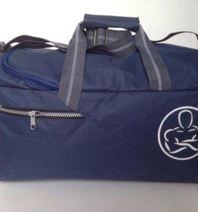 Новая спортивная сумка, темно-синяя