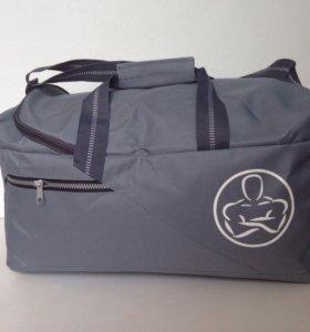 Новая спортивная сумка, темно-серая