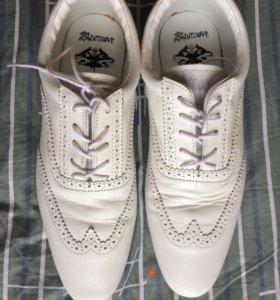 Schmoove Jamaica туфли мужские ,белые
