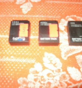 Аккумуляторы для GoPro Hero 3 3 +
