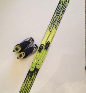 Лыжи+ботинки+палки Fischer