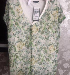 Новая шелковая блузка бренд Elena Miro (италия)