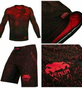 Комплект Venum fusion black/red размер М
