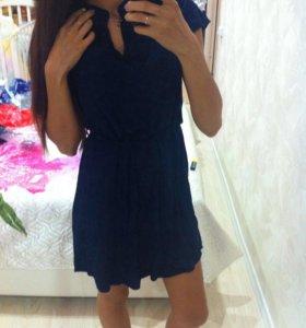 Новое синее платье 46р