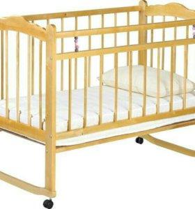 Кроватка новая+матрас