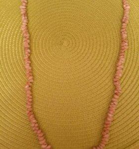 Винтажные бусы-колье из ракушек