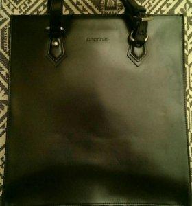Стильная сумка, кожа
