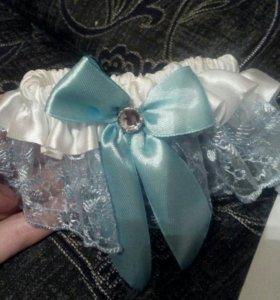 Подвязка голубого цвета