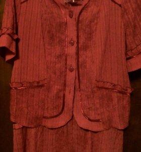 Костюм новый юбка и пиджак