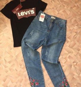 Levi's джинсы и футболка