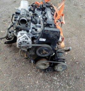 Двигатель и коробка шевроле Ланос