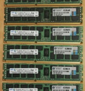 ОЗУ HP 4gb DDR3 PC3-1333 ECC Original и еще ...
