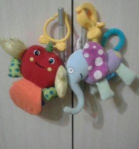 Мягкие игрушки развивалки