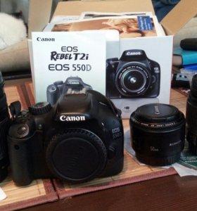 Canon 550d +canon 18-200мм. Комплект